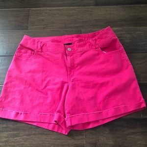 Pink Lane Bryant Shorts